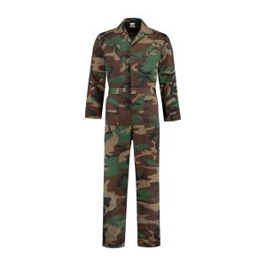 Camouflage overall polyester/katoen